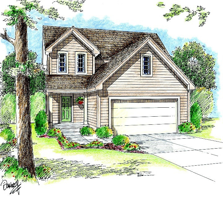 Narrow lot traditional house plan 62623dj for Traditional farmhouse plans