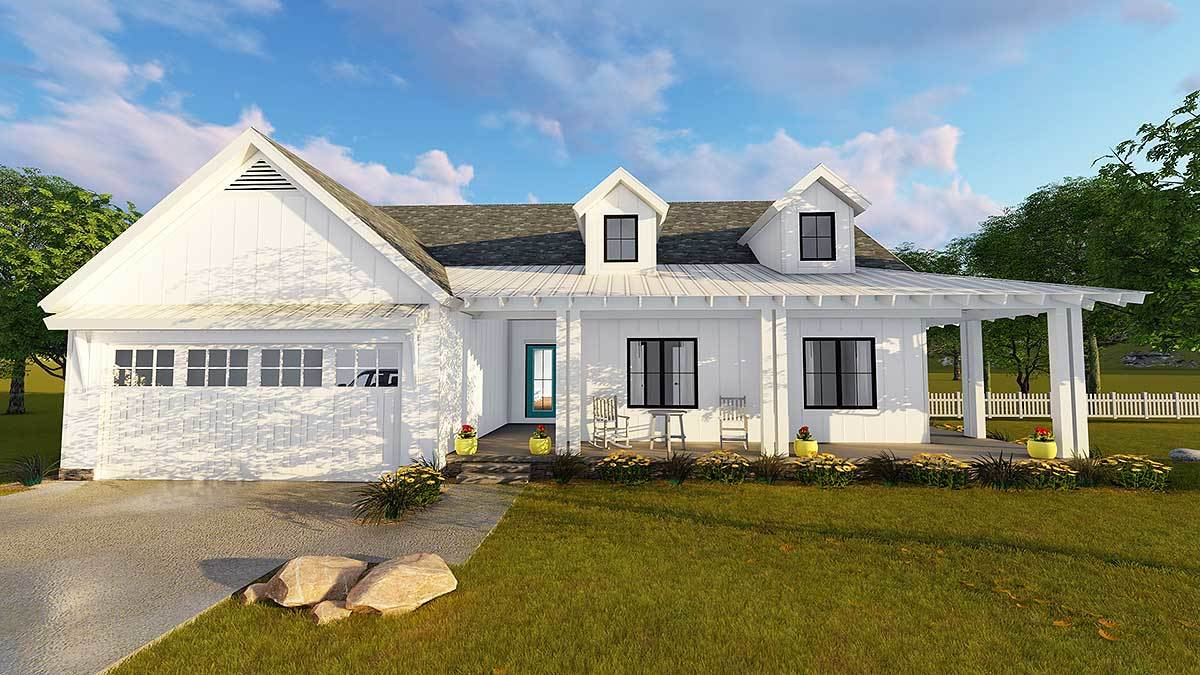 Modern farmhouse plan 62637dj architectural designs for Modern farmhouse architecture plans