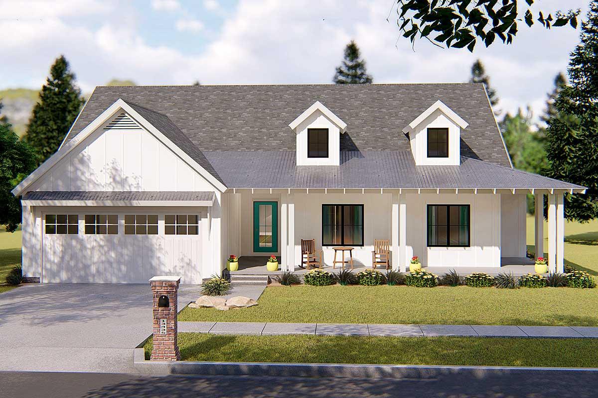 Modern Farmhouse Plan - 62637DJ