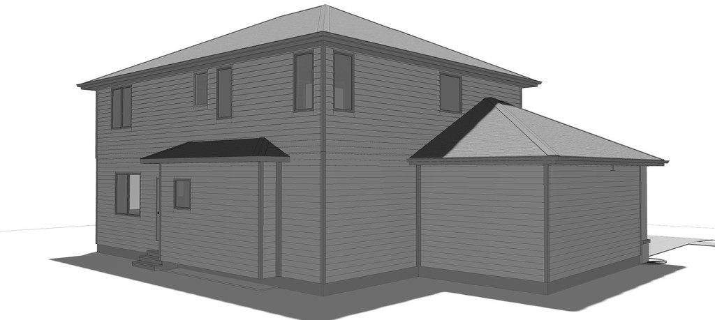 House Plans With Garage Offset : Bed house plan with offset garage dj nd floor