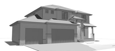4 bed house plan with offset garage 62639dj 2nd floor for House plans with offset garage