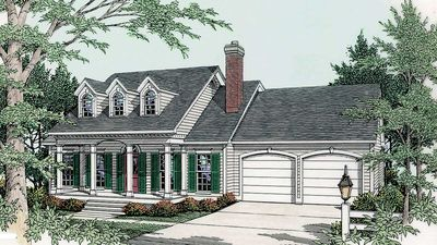 Split-Bedroom House Plan - 6265V thumb - 01