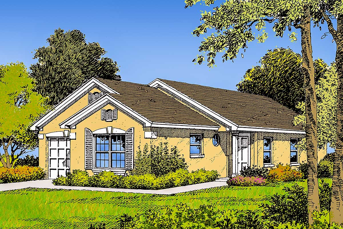 Compact florida house plan 63003hd architectural for South florida house plans
