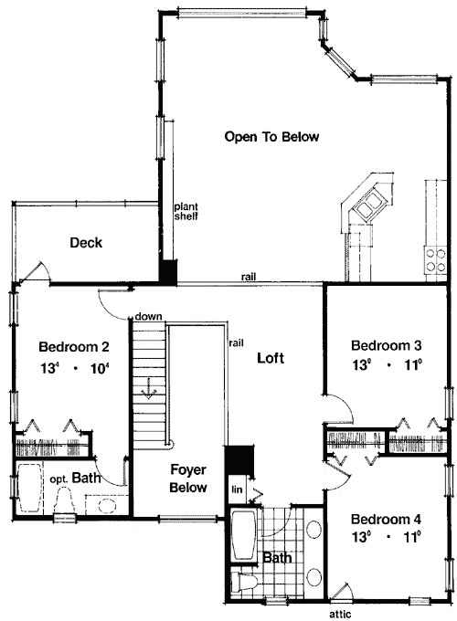 Terrific two story house plan 63066hd 1st floor master for 2 story house plans with loft