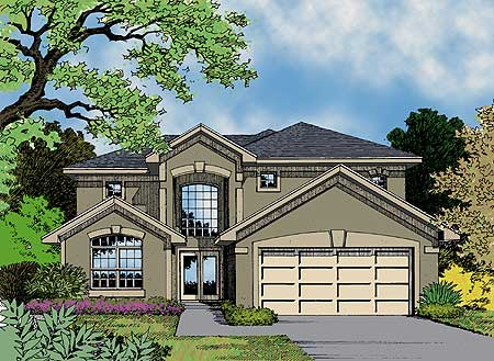 Terrific two story house plan 63066hd 1st floor master for House plans with 2 story library
