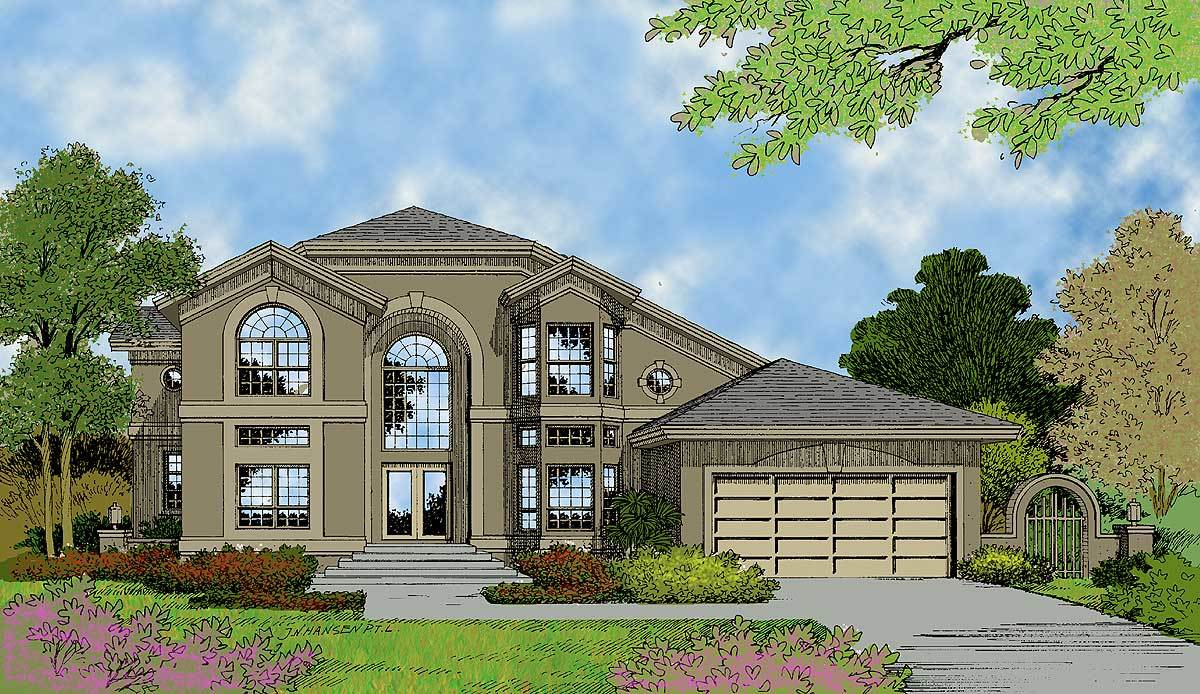 Soaring palladian windows 63119hd architectural for Palladian home designs