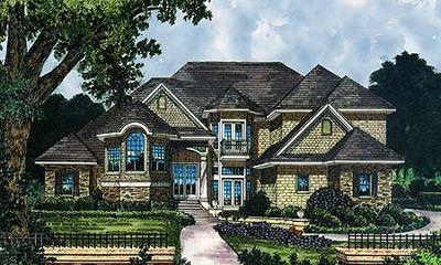Grand Shingled House Plan - 63185HD thumb - 01
