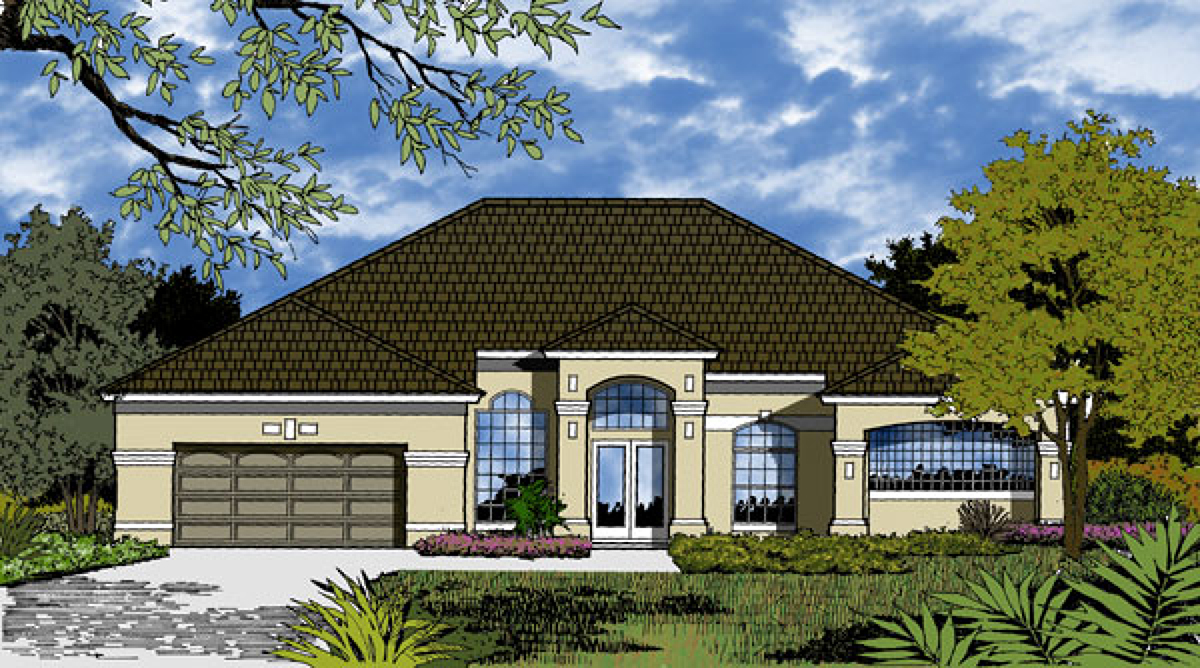 Southern home with beautiful layout 63245hd for Southern home plans designs