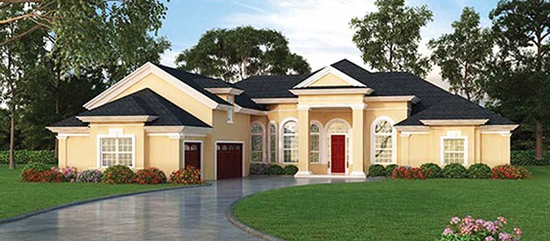 European house plan with secluded master retreat 63264hd for Retreat house plans