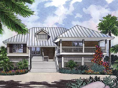 A key west cutie 6376hd architectural designs house for Key west style house plans
