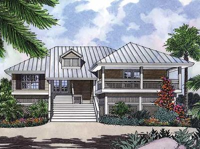 A key west cutie 6376hd architectural designs house for Key west home plans