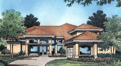 Two-Story Courtyard House Plan - 6382HD thumb - 01
