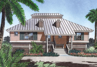 Key west style retreat 6383hd architectural designs for Key west house plans