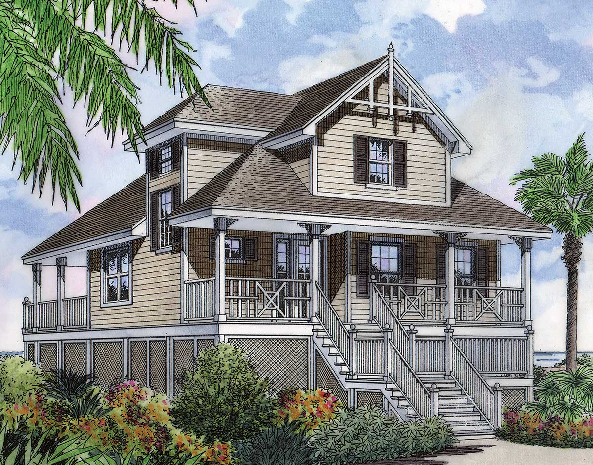 Seaside fantasy 6387hd architectural designs house plans for Fantasy house plans