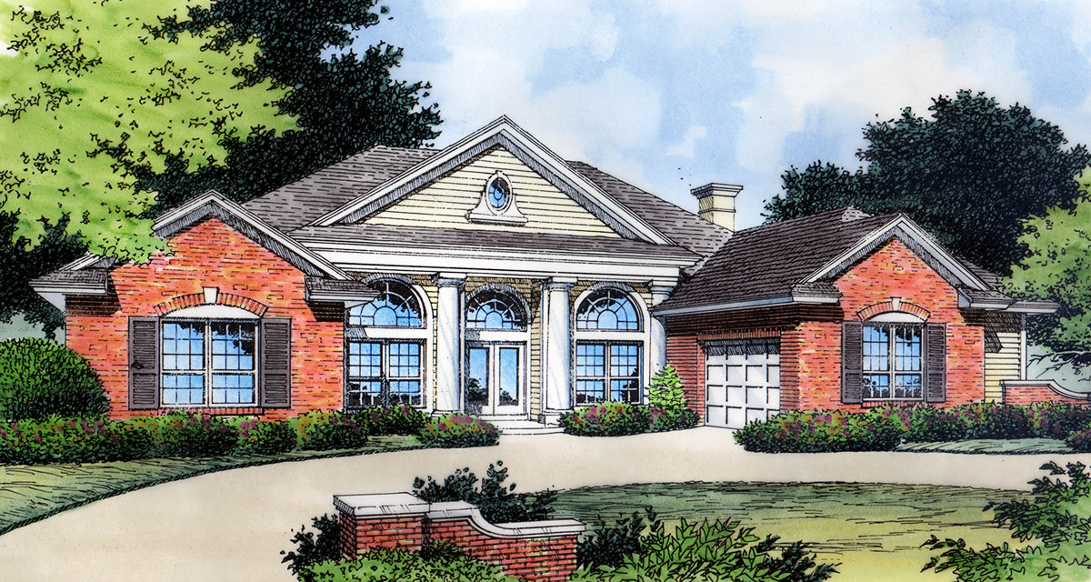 Palladian windows with options 6419hd architectural for Palladian house plans