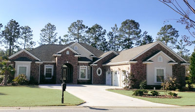 Traditional Stone And Stucco HD Architectural Designs - Stucco home plans