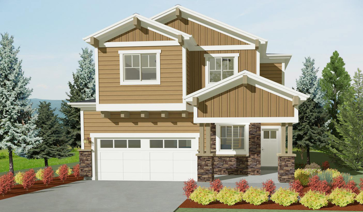 Narrow lot craftsman house plan 64400sc architectural for Narrow craftsman house plans