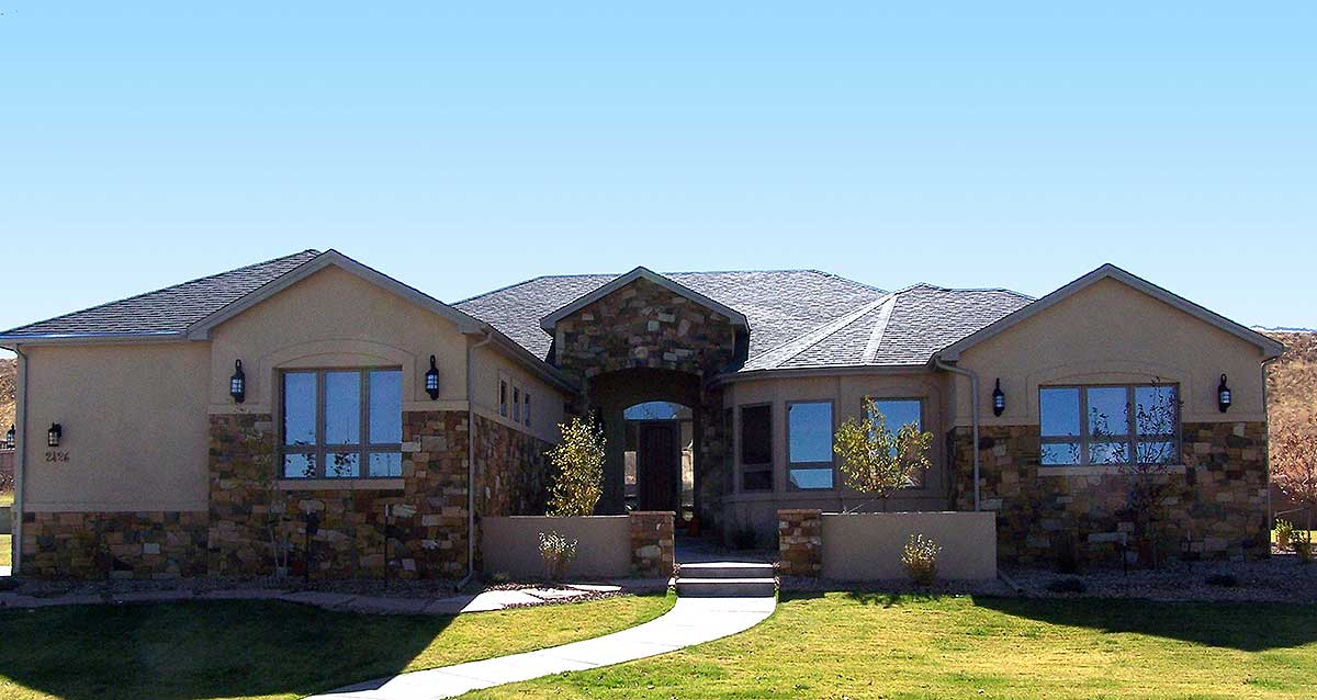 European House Plan With Front Courtyard 64408sc 1st