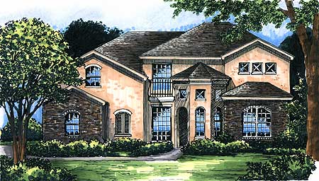 Unique french country home design 6479hd architectural for Unique country house plans