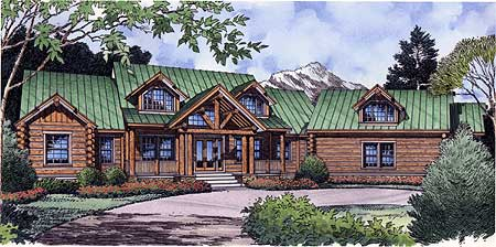 Mountain Escape With Log Siding 6496hd 1st Floor