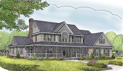 4 or 5 Bedroom Home Plan - 6528RF thumb - 01