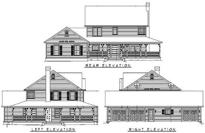 Wrap around porch 6533rf architectural designs house for Wrap around desk plans