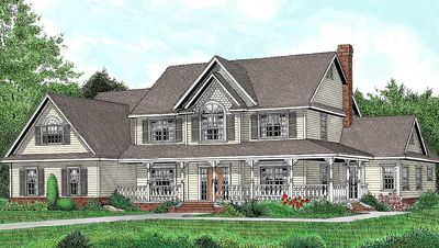 Country Farmhouse Plan With Lots of Extras - 6539RF thumb - 01