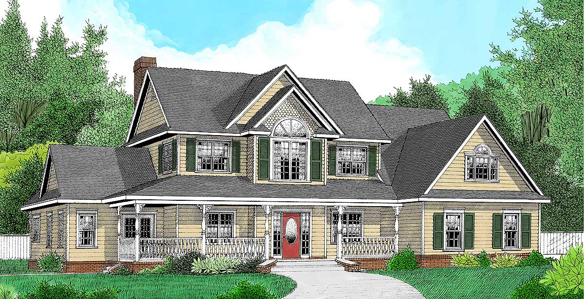3 or 4 bedroom country farmhouse plan 6542rf for 4 bedroom country house plans