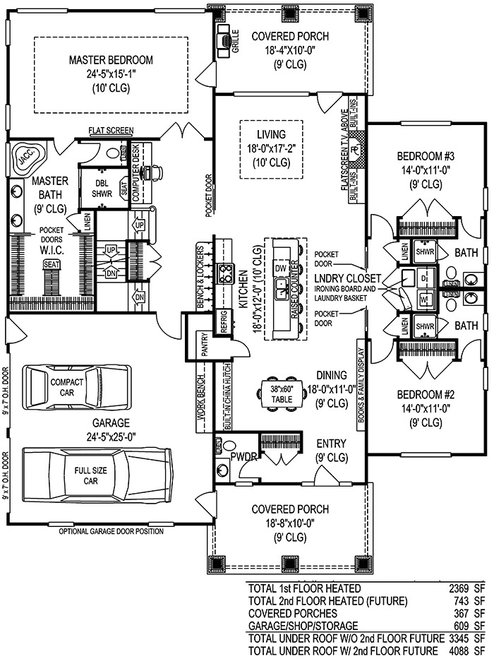 Extra large master suite 6552rf 1st floor master suite for 3 bedroom floor plans with bonus room