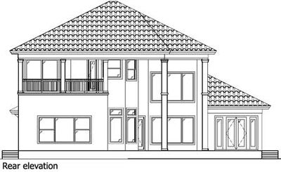 Two story mediterranean house plan 66010we 1st floor for House plans with 2 story library
