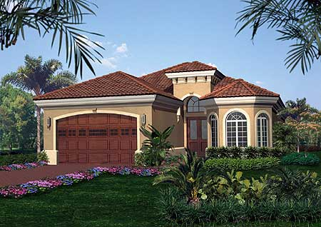 Tuscan style house plan 66025we 1st floor master suite Tuscan style house plans