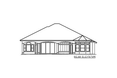 Distinctive Villa House Plan - 66034WE thumb - 02