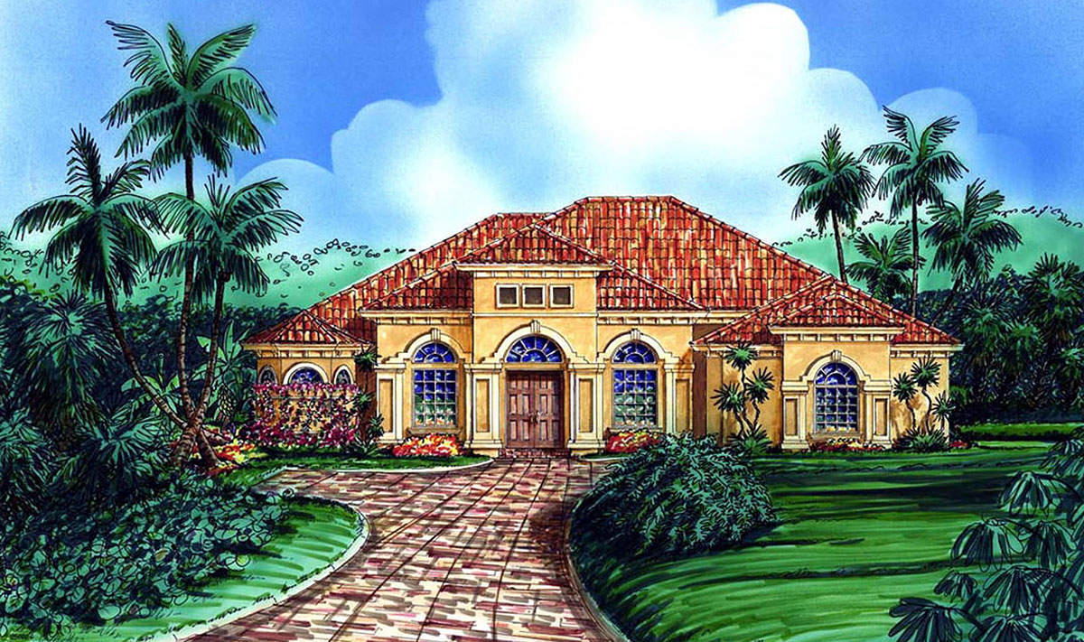 Beautiful mediterranean dream home 66045gw for Beautiful mediterranean homes