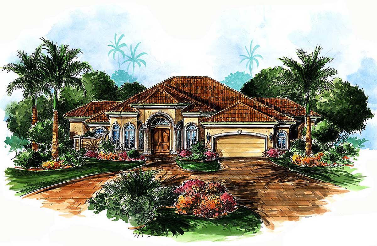 Elegant and entertaining house plan 66046we for House plans for entertaining