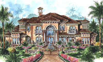 stunning two story luxury home plan 66070we thumb 01