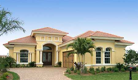 Eye catcher 66072gw 1st floor master suite butler for Florida house plans with lanai