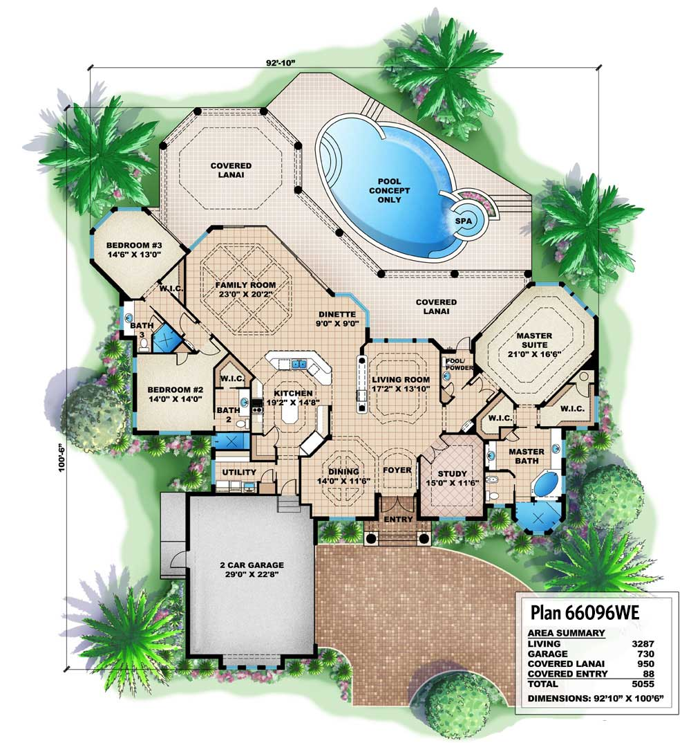 House Plan With Great Outdoor Spaces - 66096WE floor plan - Main Level