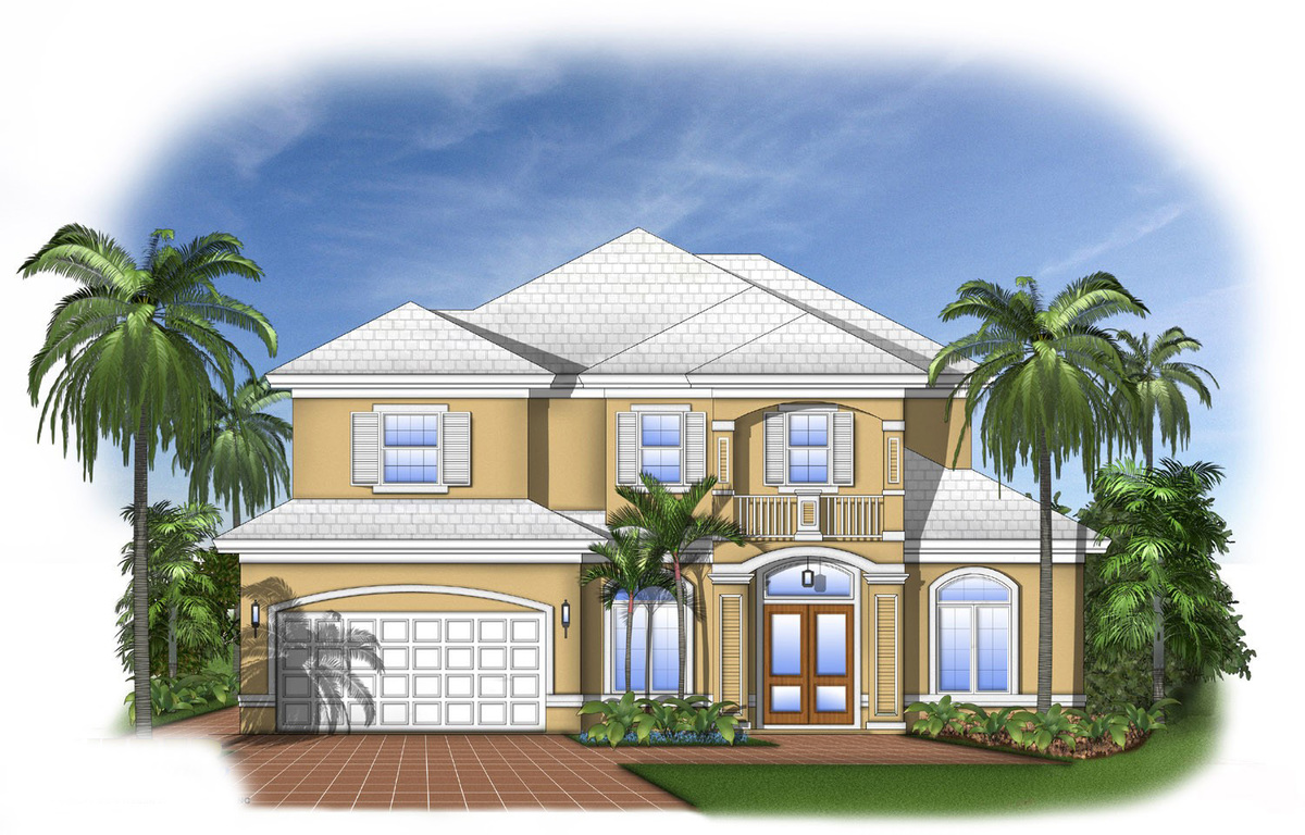 Florida house plan with open layout 66102we for South florida home designs