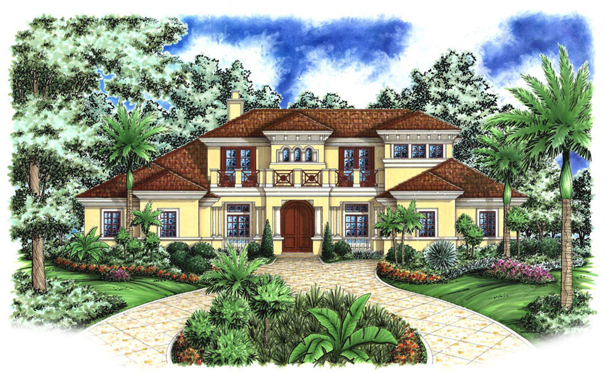 Balconies and lanai 66133we 1st floor master suite for Florida house plans with lanai