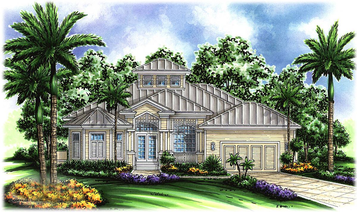 Key West Charm   GW   st Floor Master Suite  CAD Available     we  Plan GW