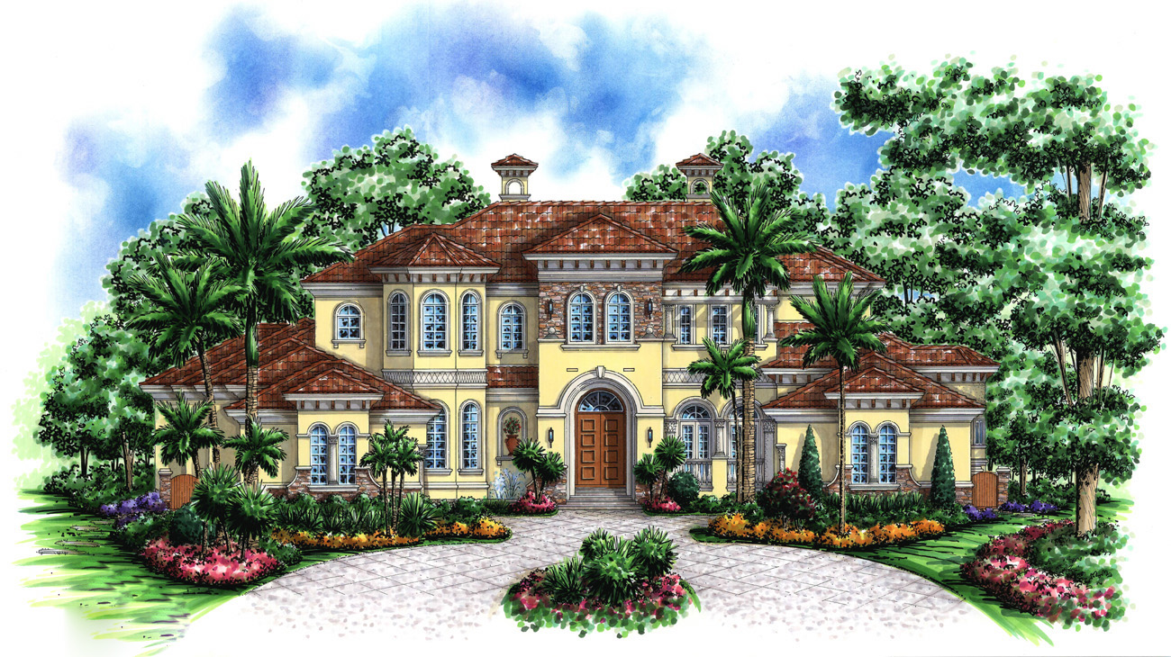 Palatial elegance 66164we architectural designs for Palatial home designs
