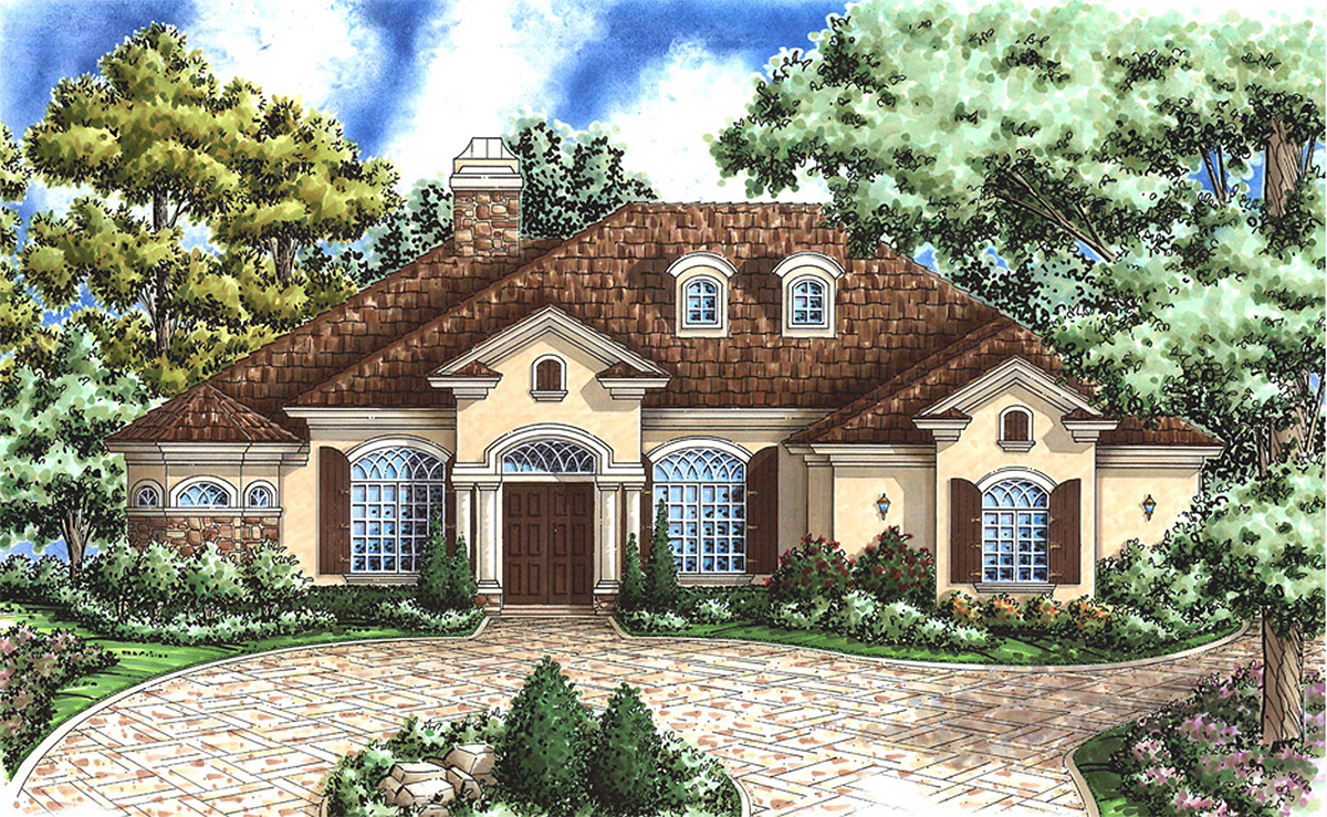 Chateau Style Home Plan 66168gw Architectural Designs