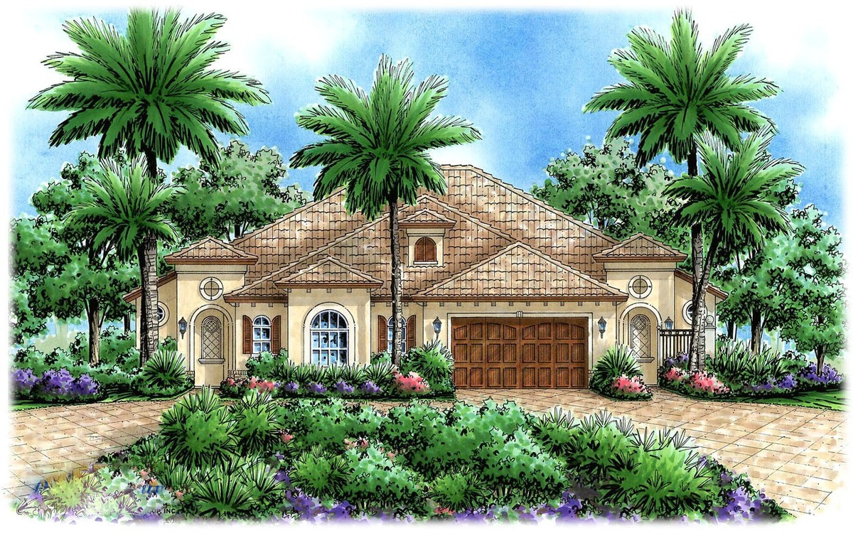 mediterranean multi family house plan 66174gw 1st