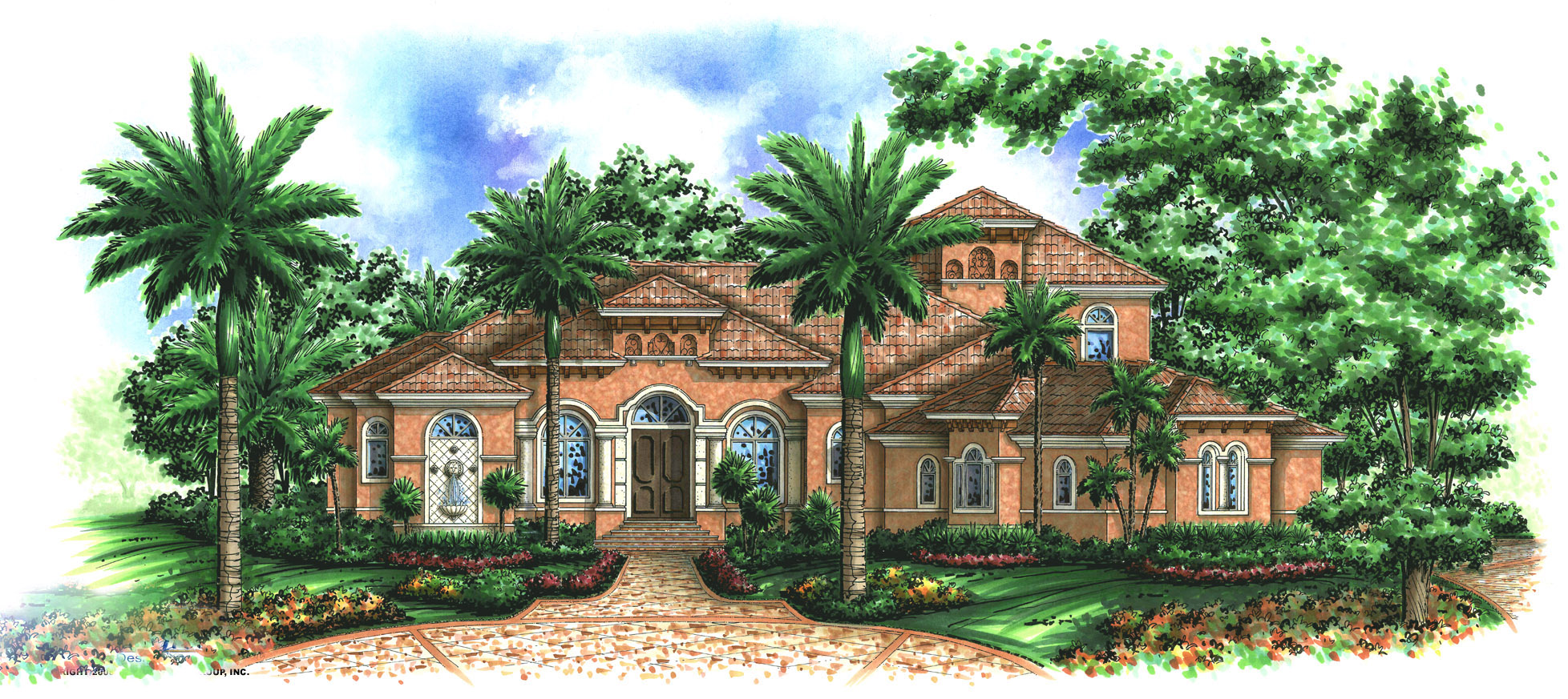 beautifully designed tuscan house plan 66185we 1st floor master suite bonus room cad available den office library study florida luxury mbr sitting