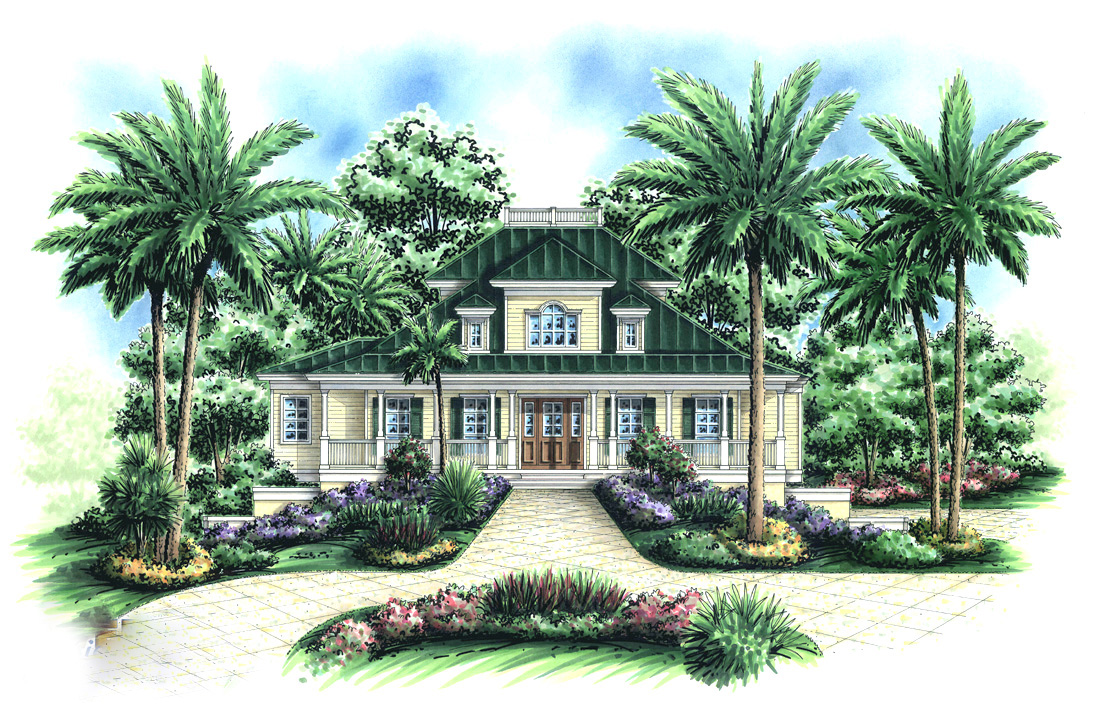 Caribbean Charmer 66209WE Architectural Designs