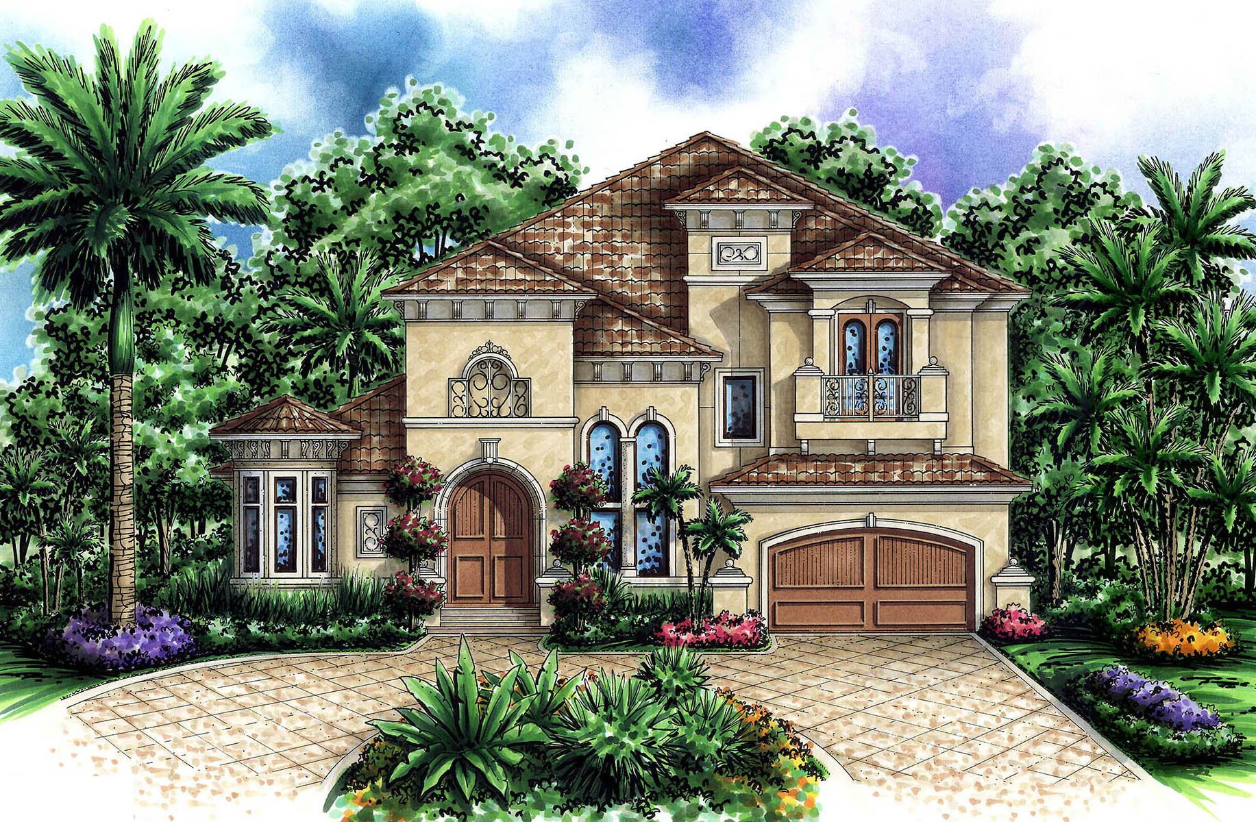 Beautiful Tuscan Appeal 66211we Architectural Designs