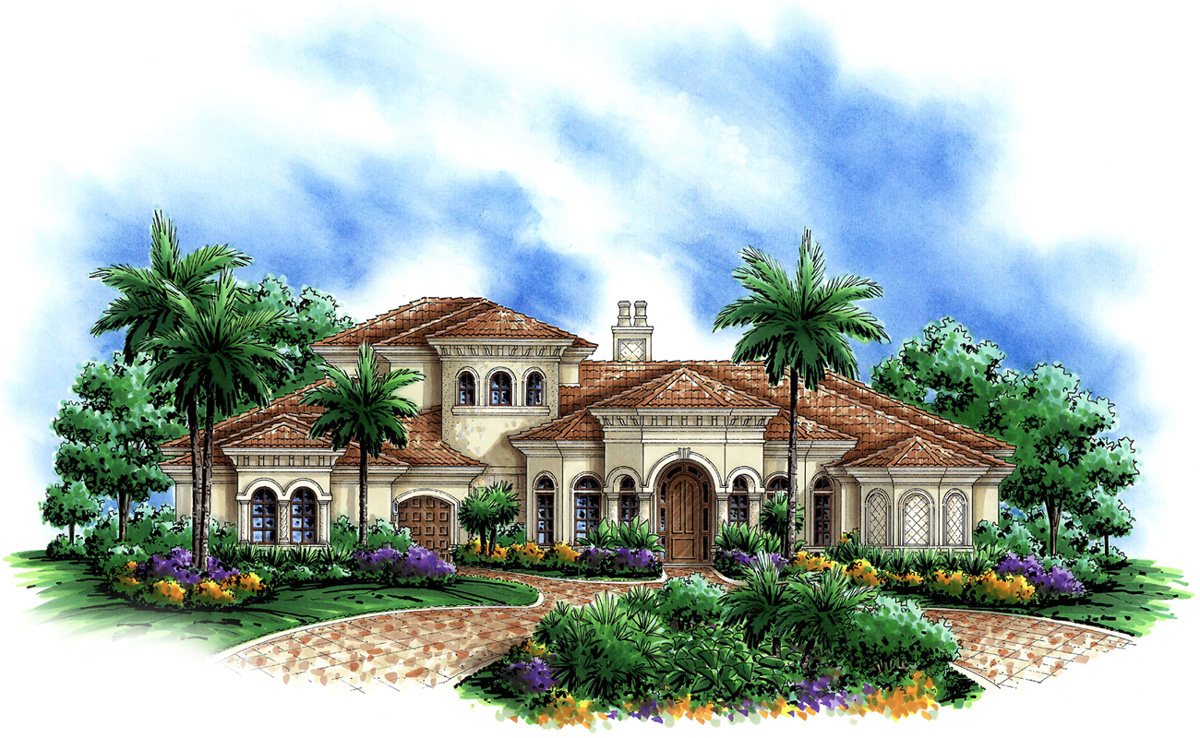 Mediterranean dreaming 66215we architectural designs for Mediterranean house numbers