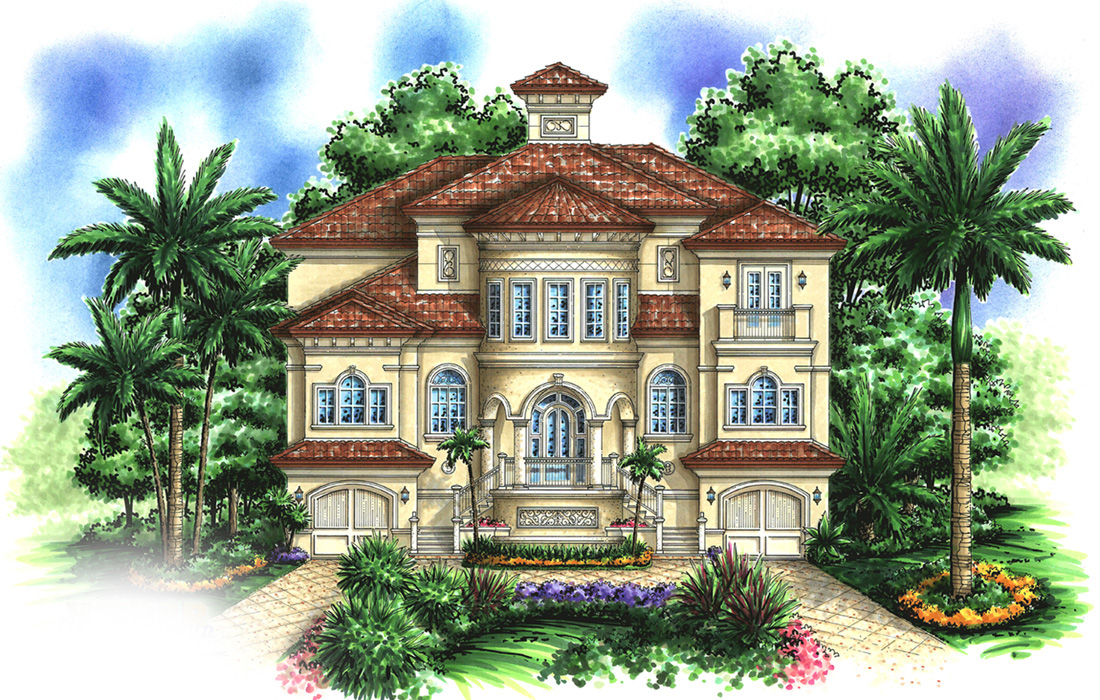Tuscan Influences 66223we Architectural Designs