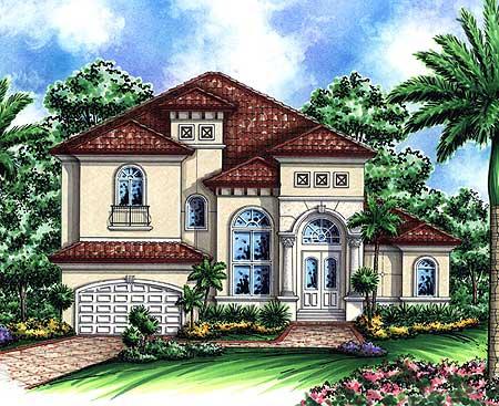 Two story mediterranean house plan 66237we 1st floor for 2 story mediterranean house plans