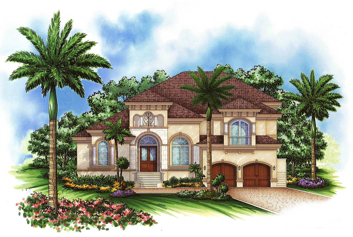 Loft plus lanai equals fun 66258we architectural for Moroccan house plans